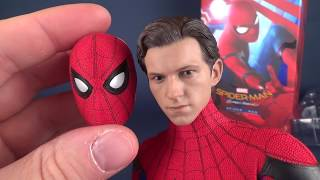 UNBOXING Hot Toys Spider man Homecoming Spider man Sixth Scale Figure