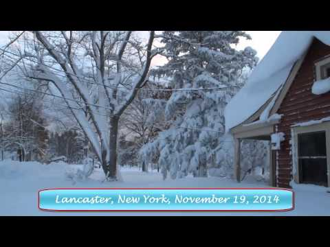 Lake Effect Snow, Lancaster, NY, November 19, 2014