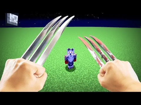 REALISTIC MINECRAFT - STEVE BECOMES WOLVERINE