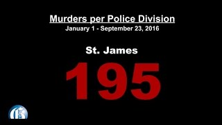 VIDEO: Murders per division ... St James way out front
