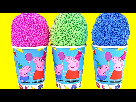 Thumbnail: Peppa Pig Foam Clay Surprise Toys Frozen Elsa Minnie Mouse Mickey Mouse Surprise Eggs