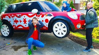 Max and Nikita Pretend Play with cars  Hide and seek with Papa video for kids