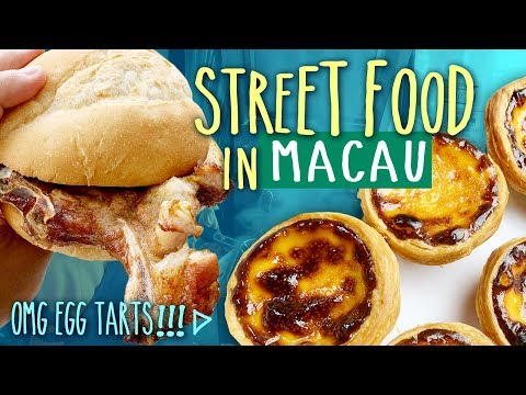 Trying TRADITIONAL Eats & Local Street Food in Macau China | OMG EGG TARTS!