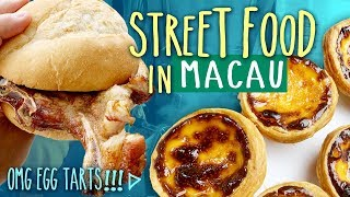 Download Trying TRADITIONAL Eats & Local Street Food in Macau China | OMG EGG TARTS! Mp3 and Videos