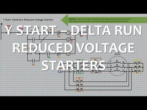 Y Start-Delta Run Reduced Voltage Starters (Part 1 of 2) - YouTube | Wye Start Delta Run Wiring Diagram |  | YouTube