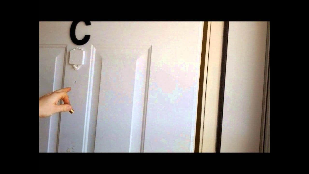 How To Install A Peephole Door Viewer In An Exterior Door Youtube