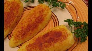 Картофельные зразы – морковки с мясом