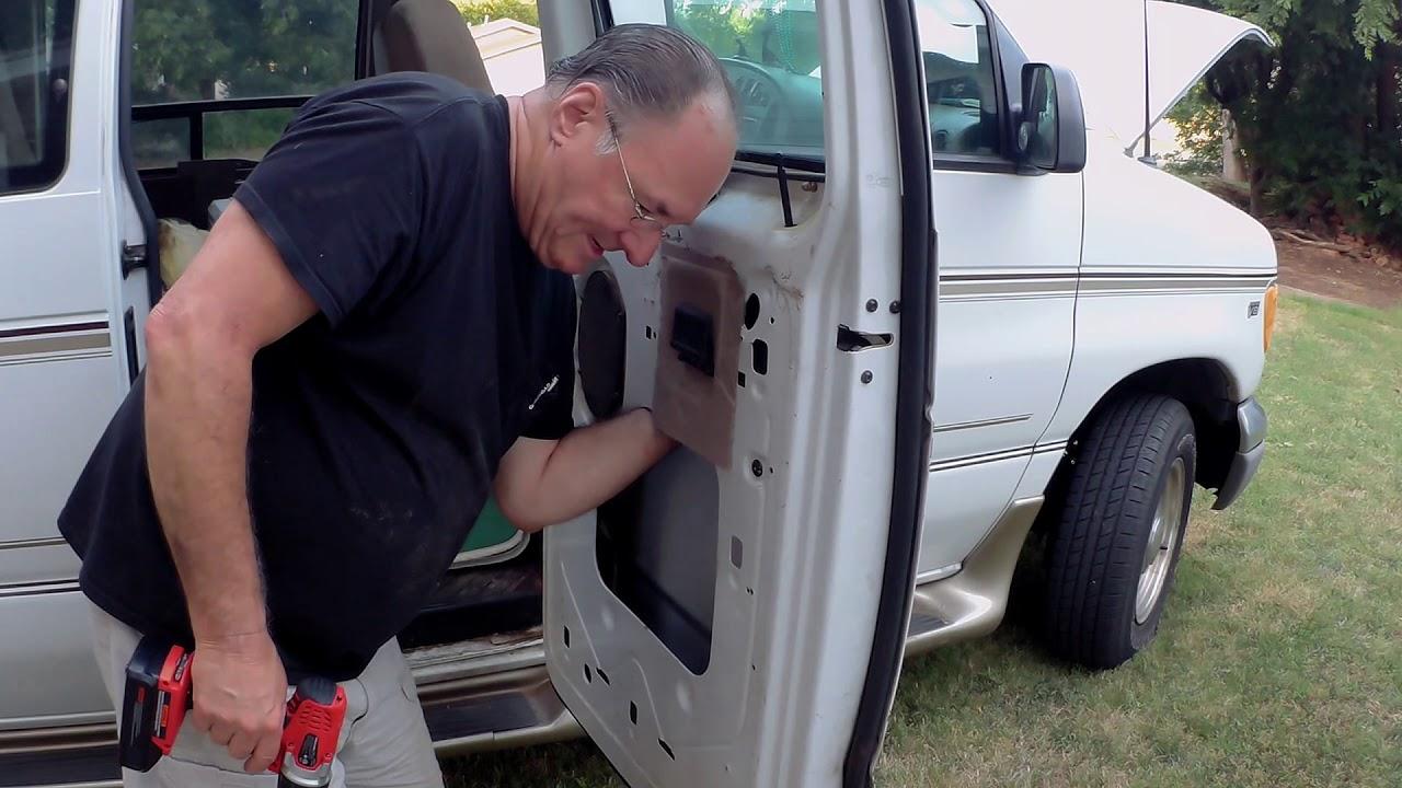 2001 Ford E250 Van Side Door Latch Repair Part 1 Ver 2 Youtube