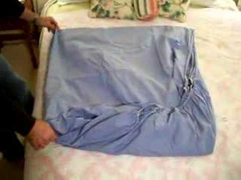 How to Fold a Fitted Sheet - The Only Video You Need!
