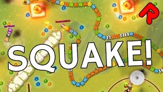 SQUAKE is Snake with Deathmatch, Domination & CTF!   Let's play Squake gameplay (PC Steam)
