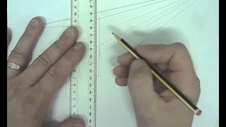 how to draw a simple chair in 1 point perspective