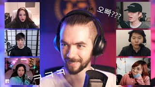streamers react to Jacksepticeye speaking FLUENT korean (Jae from DAY6, Sykkuno, LilyPichu)