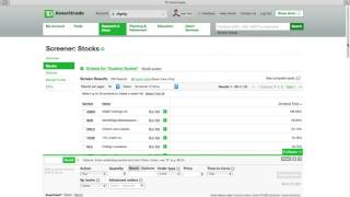 How to find dividend paying stock with TD ameritrade.(2 mins)