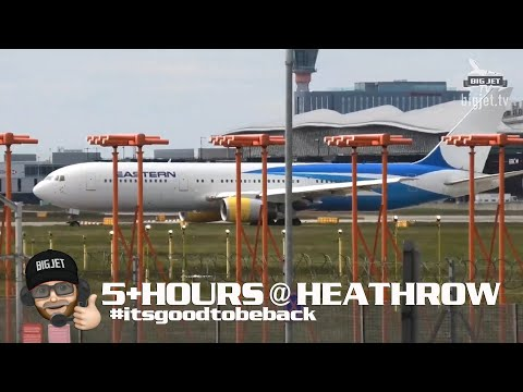 Planespotting At London #Heathrow Airport - 5+ Hours From 27L