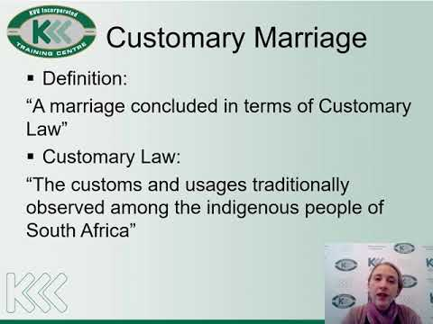 Different Types of Marriages in SA Law Training