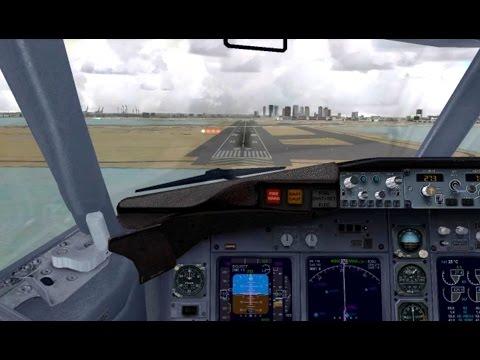 FSX Landing in Boston with ATC | United B737-700 (BVATC) |