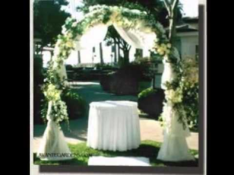 Easy Wedding arches decorations - YouTube
