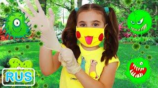 Поли показывает что нужно делать чтобы не заболеть. Правила поведения для детей