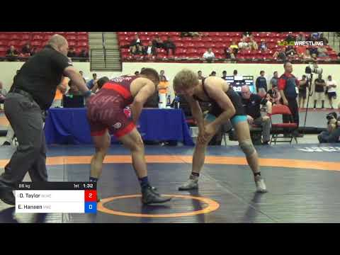 2018 Marine Corps US Open/Senior Men's Freestyle 86 Rnd Of 32 - David Taylor (NLWC) Vs. Evan Hanse