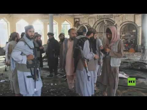 لقطات من داخل المسجد الذي استهدفه الانفجار في قندوز الأفغانية