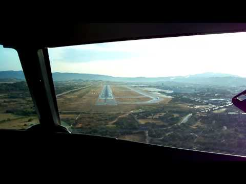 Airbus A319 - Landing in Olbia LIEO - Cockpit view