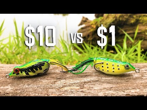 CHEAP Vs EXPENSIVE Frog Fishing CHALLENGE!!! (HUGE BASS)