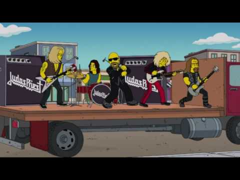 The Simpsons and Judas Priest - Respecting The Law! | S25E09 - Steal this Episode