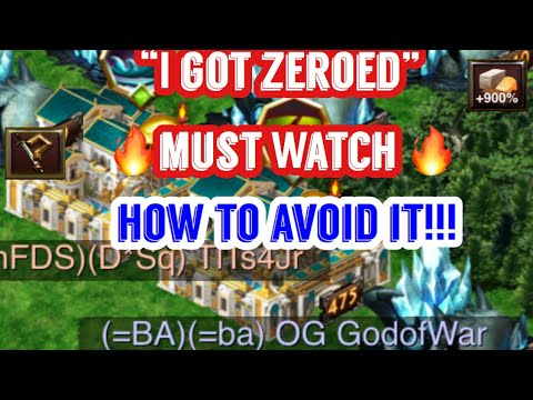 Game of War: I GOT ZEORED. HOW AND HOW TO AVOID IT. 😝