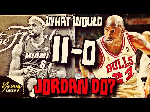 COULD MICHAEL JORDAN WIN ALL THE NBA FINALS LEBRON JAMES LOST(11-0)?!? SIMULATION ON NBA 2K18