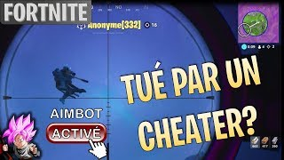 KILLED BY A CHEATER AIMBOT?! (Fortnite Battle Royale Gameplay EN)
