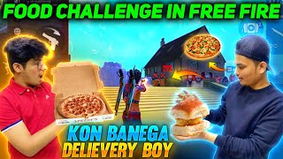 Food Challenge In Free Fire 1 vs 1 Custom Room || Kon Banega Delivery Boy 😂 || Garena Free Fire