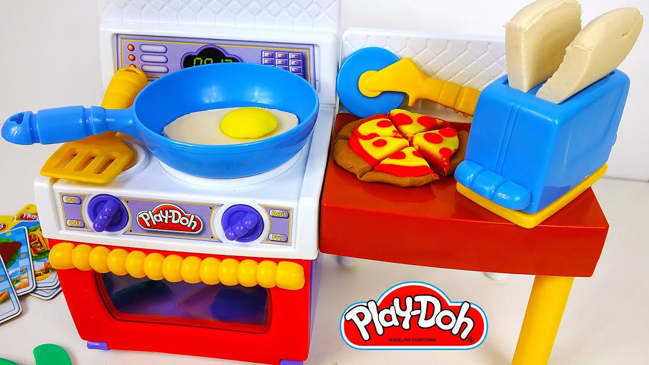 play doh food kitchen meal makin play dough pizza yummy