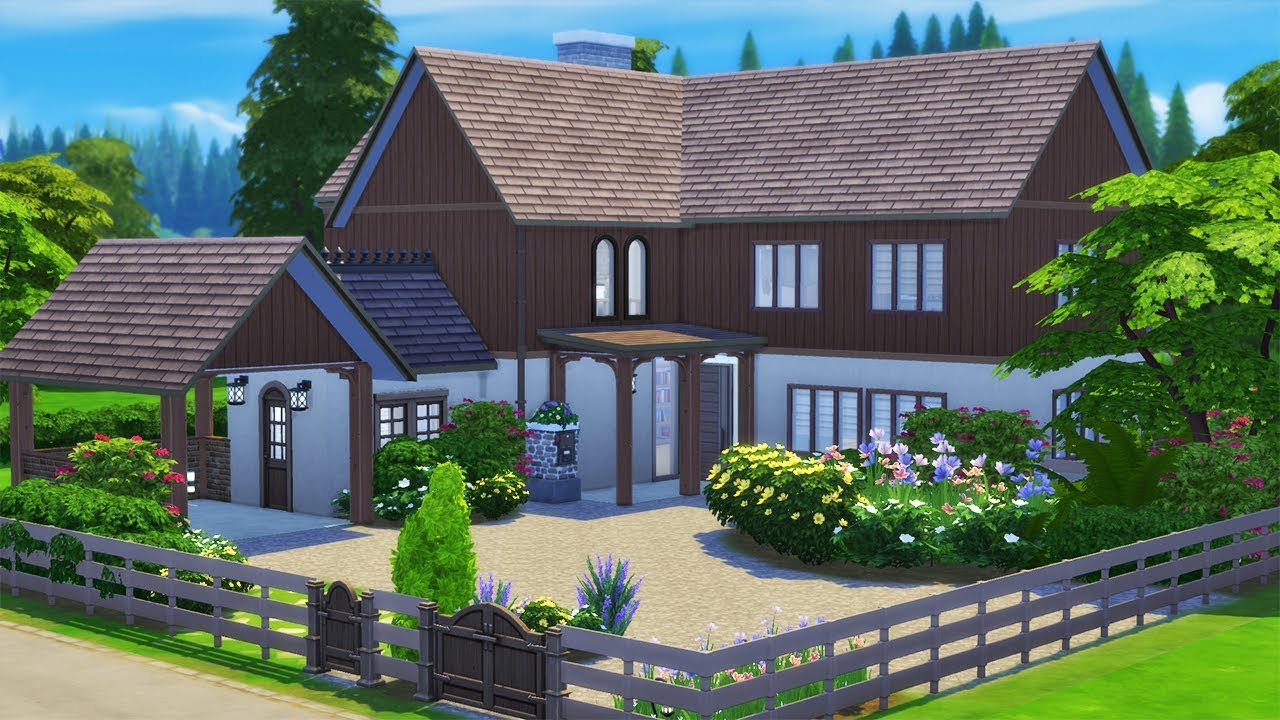 The Old Barn House Speed Build The Sims 4 No CC