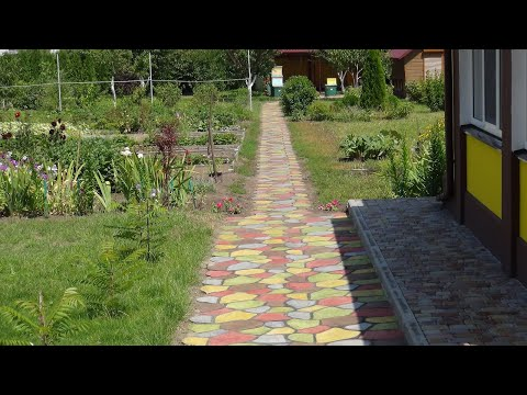 Чем покрасить садовую дорожку? Краска для бетона.