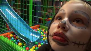 Аквагрим для Хэллоуина от Николь и Детская площадка с батутом