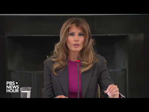 WATCH: First Lady holds roundtable with tech industry to discuss cyberbullying