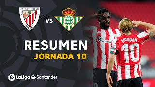 Resumen de Athletic Club vs Real Betis (4-0)