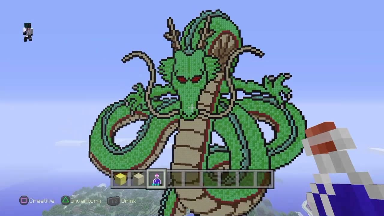 Minecraft Dragon Ball Z Pixel Art Exhibition Youtube