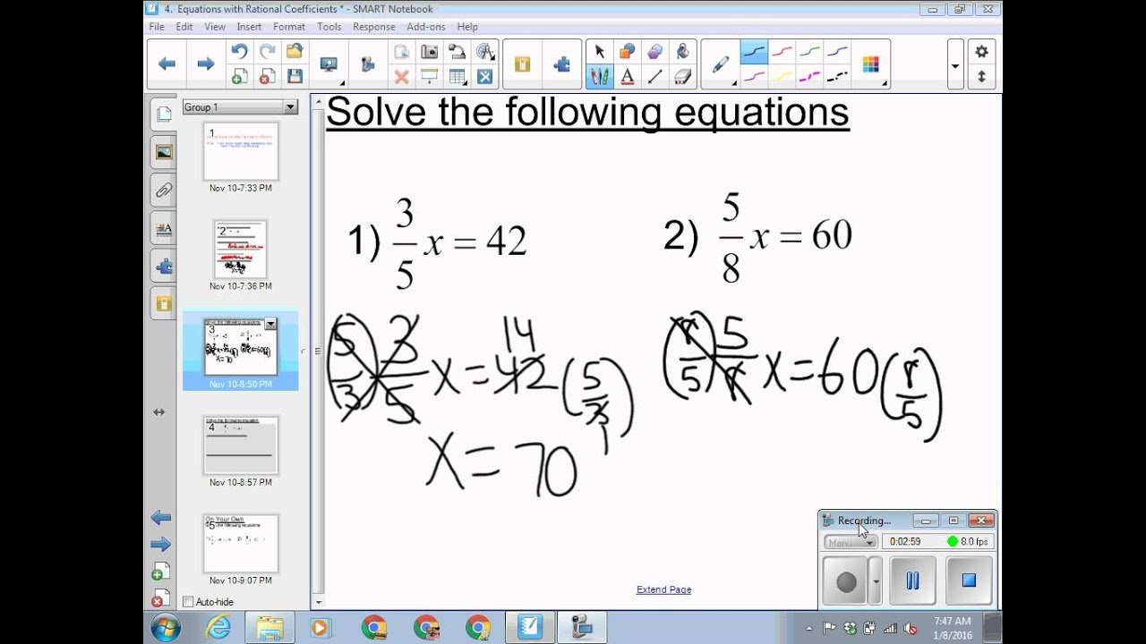 3 Solving Equations With Rational Coefficients