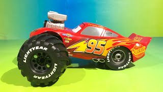 Gambar cover Build To Race Lightning Mcqueen cars 3 off road monster truck learn colors and numbers