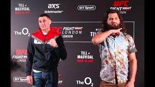 UFC London Media Day Staredowns - MMA Fighting