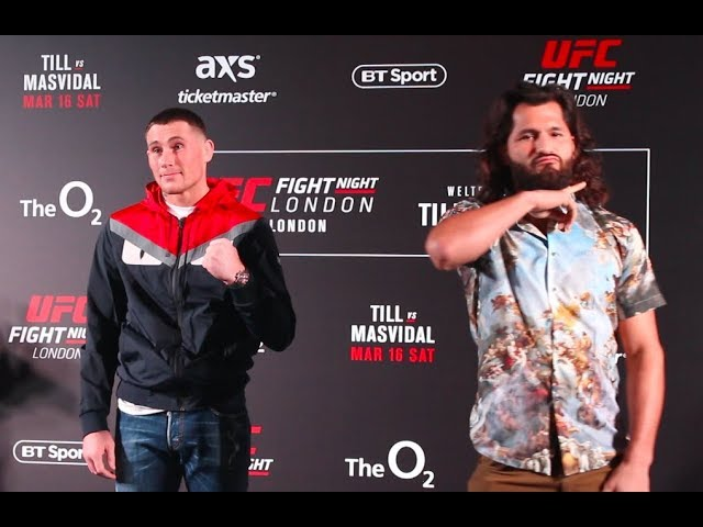 UFC London Media Day Staredowns - MMA Fighting