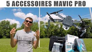 DJI MAVIC PRO - TOP 5 ACCESSOIRES  Présentation et test FRANÇAIS + CONCOURS FACILE