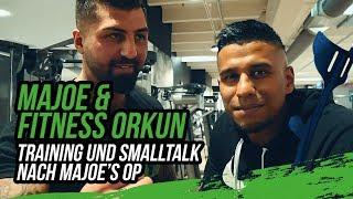 Majoe und Fitness Orkun im Gym I Training und Smalltalk nach Majoe's Op I