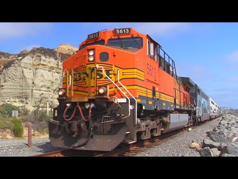 TRAINS in San Clemente, CA (LAST HORN DAYS) June 2016