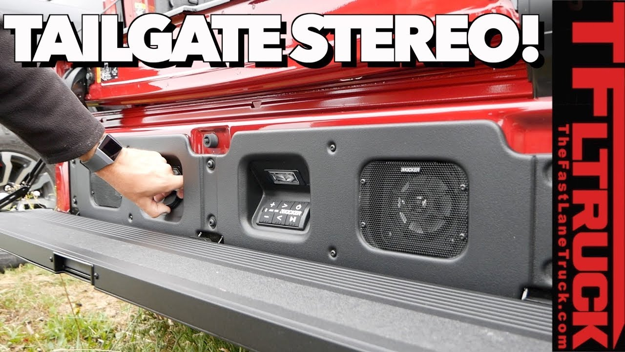 Surprising News First Ever Tailgate Speakers Revealed New 2019 Gmc Sierra Youtube