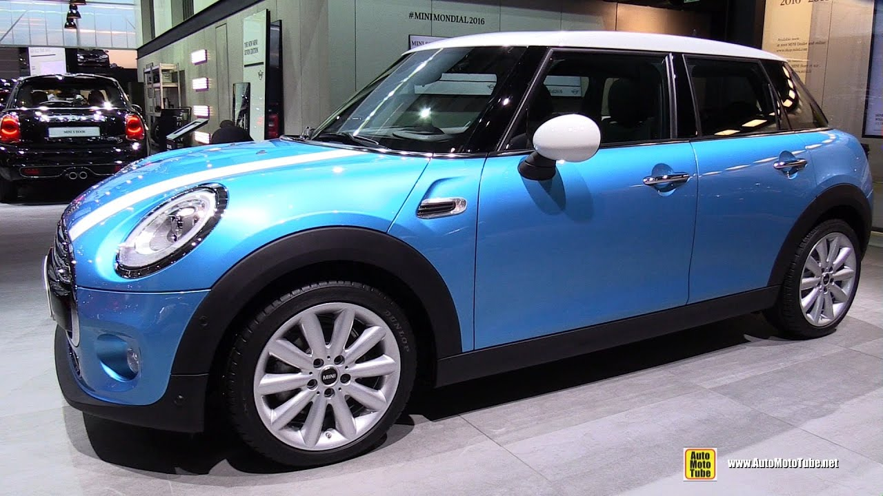 2017 Mini Cooper 5 Doors 136ch Exterior And Interior Walkaround 2016 Paris Motor Show You