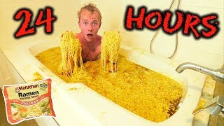 OVERNIGHT IN RAMEN NOODLES BATH (Challenge)