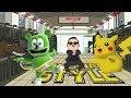 Pikachu Pokemon - Gangnam Style and I'm A Gummy Bear The Gummy Bear Song