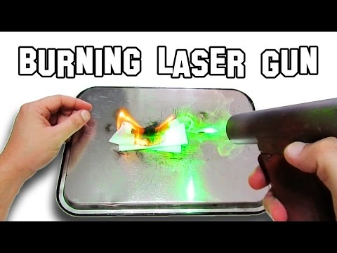 ✔ How To Make a Burning Laser Gun